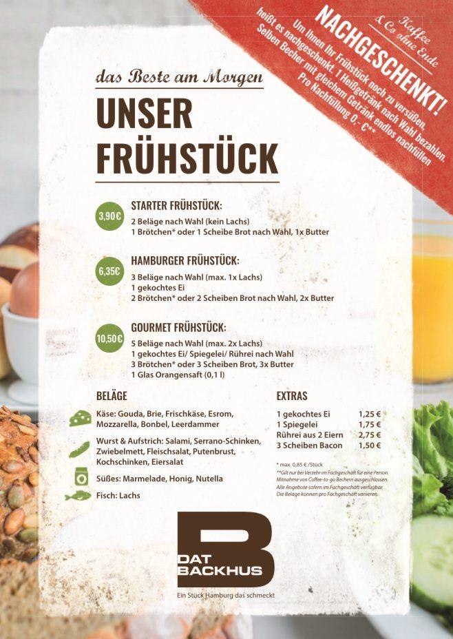 Frühstücksbuffet Dat Backhus